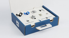 grid news article illustration, solution box, open box showing top layer