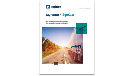 My rockfon logistics, MyRockfon logistics, brochure, cover, rockfon, germany, DE